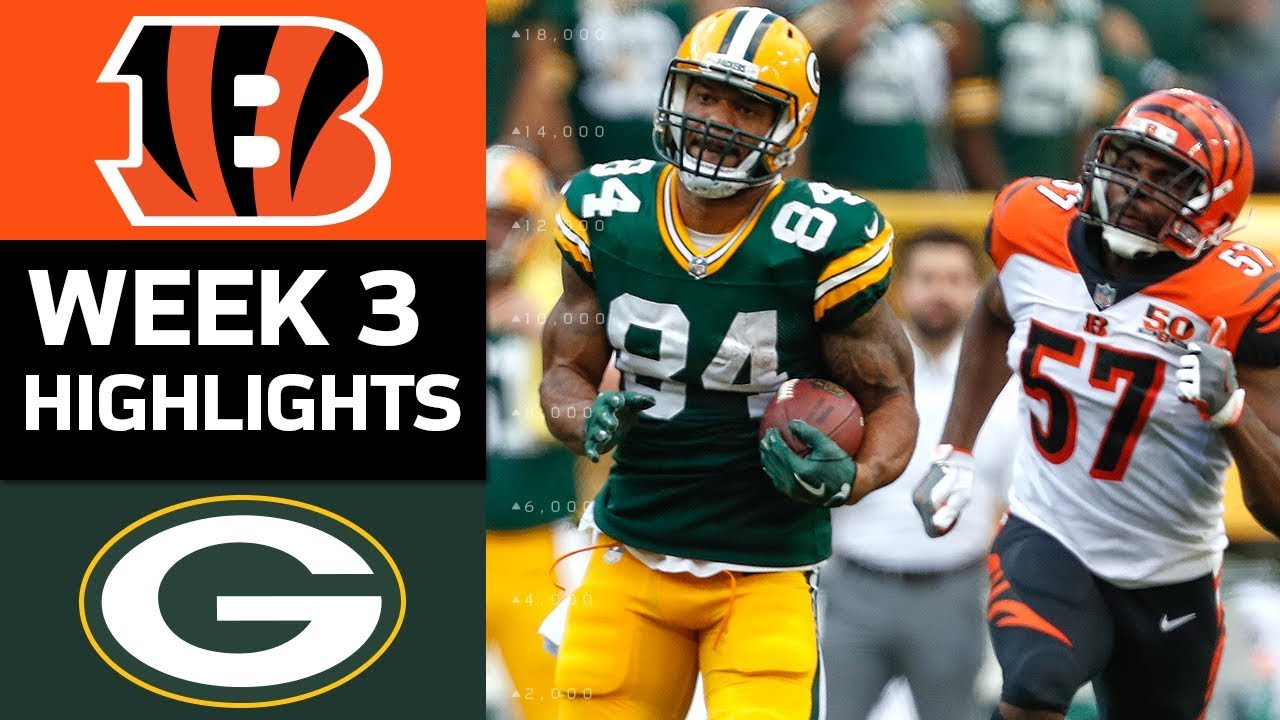 Bengals vs. Packers  NFL Week 3 Game Highlights  YouTube