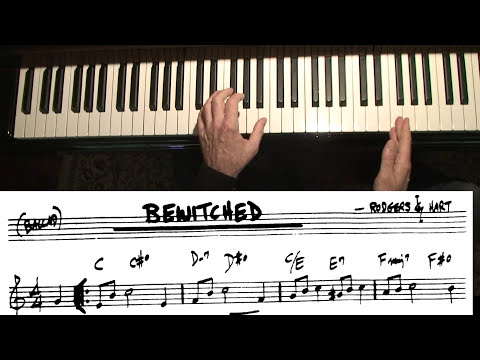 """Jazz Piano College 105 """" Bewitched """" diminished chords"""