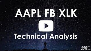 XLK AAPL FB  Technical Analysis Chart 9/29/2017 by ChartGuys.com