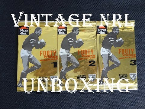1995 PIZZA HUT EXCLUSIVE FOOTY WORKS SELECTION | NRL VINTAGE TRADING CARDS UNBOXING!!