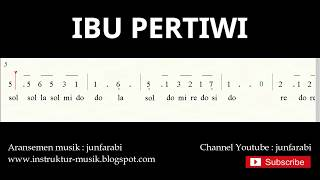 not angka ibu pertiwi - do = C Mayor - lagu wajib nasional - doremi solmisasi