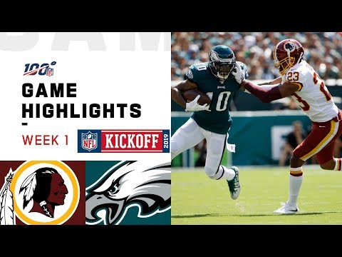 Redskins vs. Eagles Week 1 Highlights