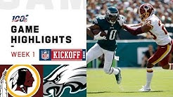 Redskins vs. Eagles Week 1 Highlights | NFL 2019