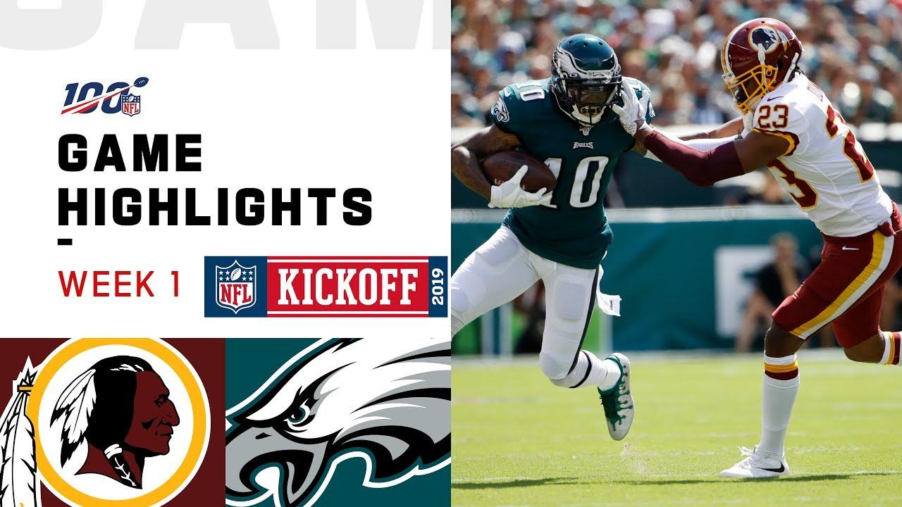 Redskins Vs Eagles Week 1 Highlights Nfl 2019