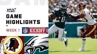 Redskins vs. Eagles Week 1 Highlights