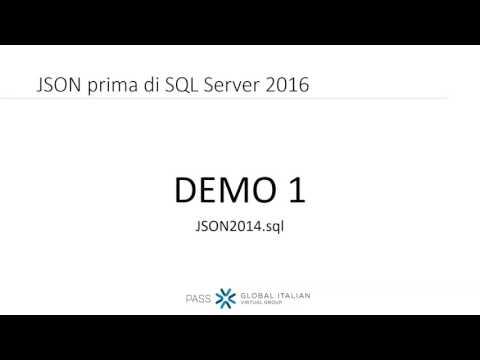 Emanuele Zanchettin - JSON prima e dopo SQL Server 2016 - 12/04/2017