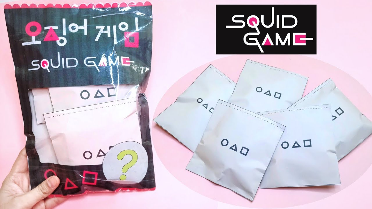 DIY Squid Game Paper Squishy Blind Bags   Squid Game   How to make Squid Game viral TikTok squishies