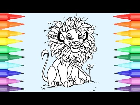 Disney Coloring Pages Lion King I Fun Coloring Videos For Kids - YouTube