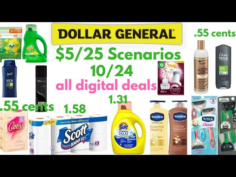 Dollar General $5 Off $25 For 10/24 All Digital Low Oop Scenarios