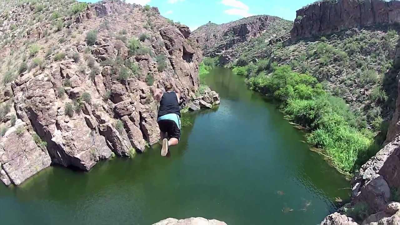 Canyon Lake Az Cliff Jumping Youtube