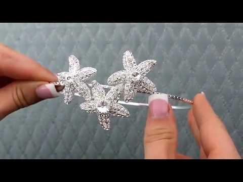 Rhinestone Starfish Bridal Headband By Hair Comes The Bride