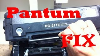 замена тонера на pantum M 6500