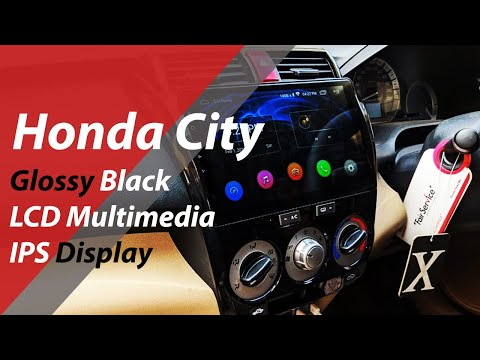 Honda City Glossy Black LCD Multimedia IPS Display - Honda City IPS Display Panel - Glossy Black - 동영상