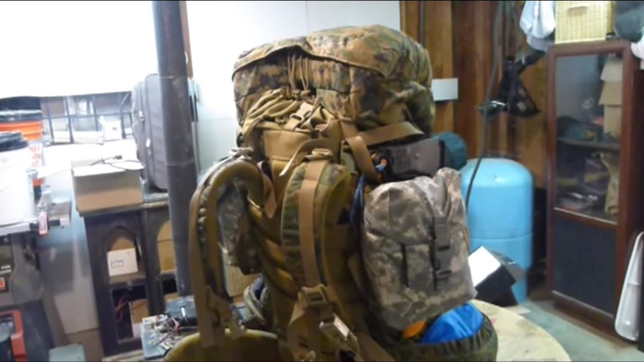 USMC ILBE Backpack Preliminary Trials & somewhat weight saving ...
