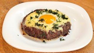 Котлеты с яйцом - Гнёзда из мясного фарша с сыром / Egg topped ground meat nests ♡ English subtitles