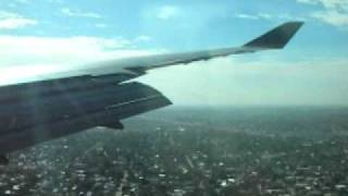 Boeing 747 400ER Wunala Dreaming Landing at Buenos Aires (Ezeiza Airport)