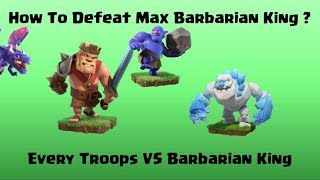 Every Troop Vs Max Barbarian King | Clash of Clans