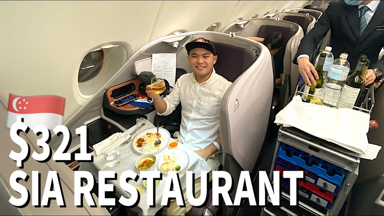 Singapore Airlines (non-flying) Business Class Review   A380 Restaurant✈️