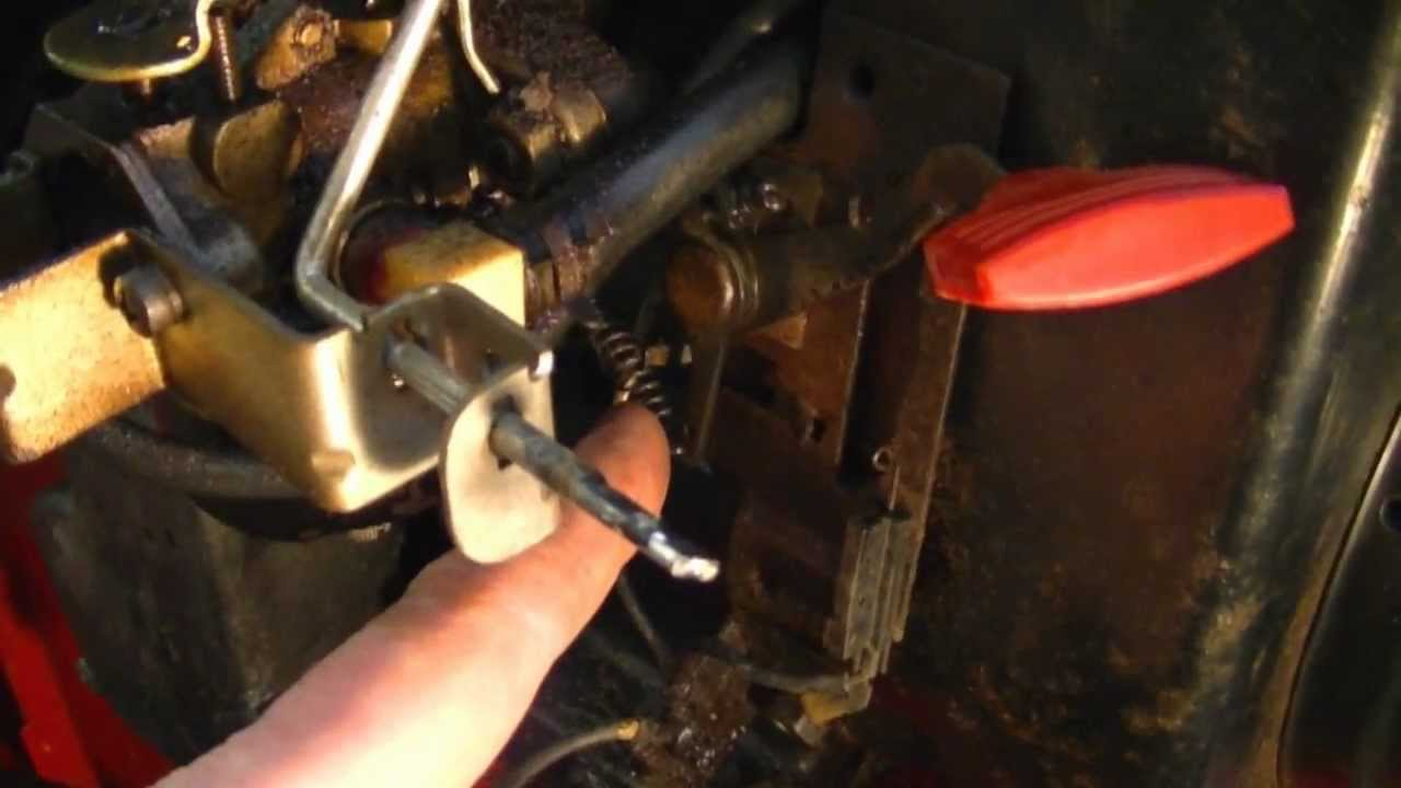 small resolution of linkage configuration on 4 5hp tecumseh snowblower engine with throttle lever youtube