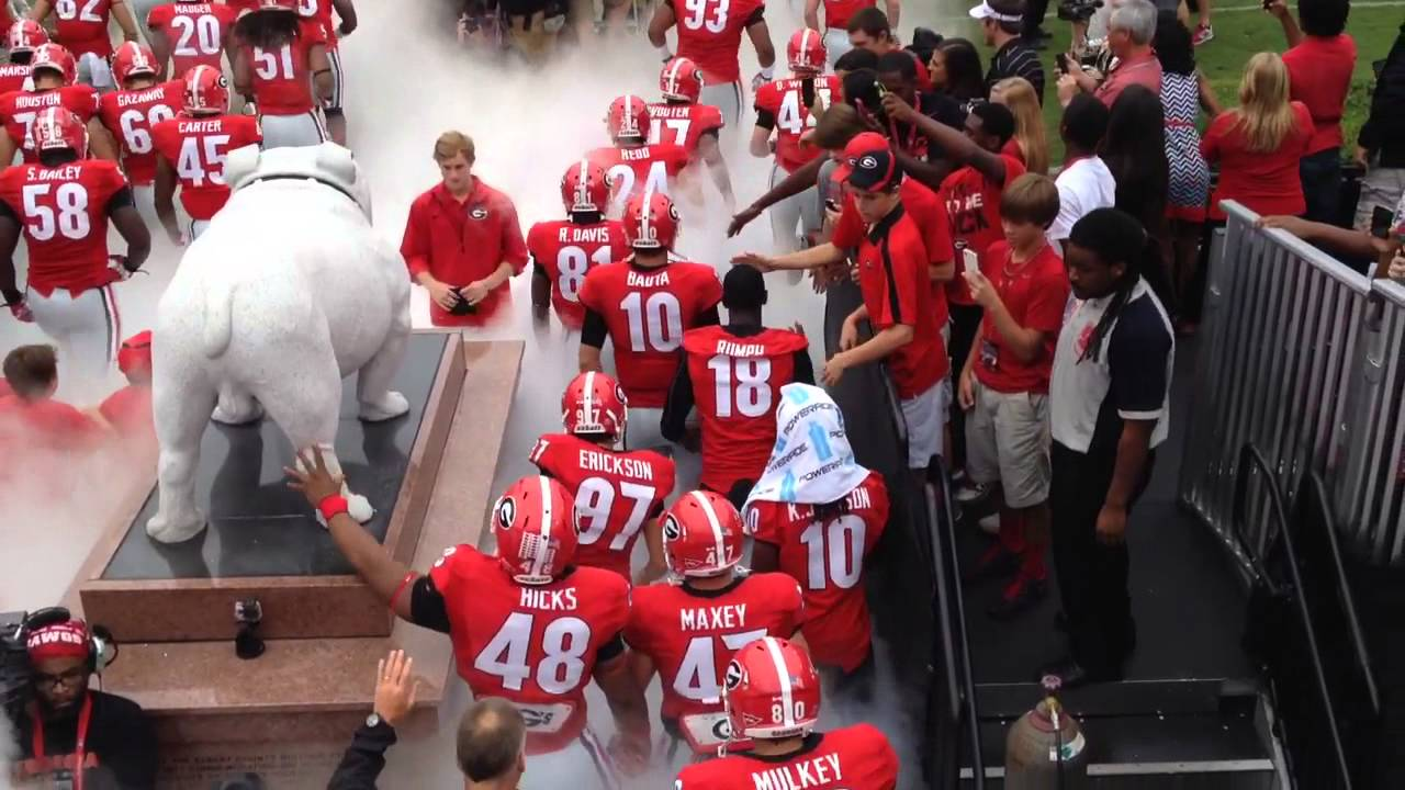 College Football Wallpapers Hd Georgia Bulldogs Entrance Youtube