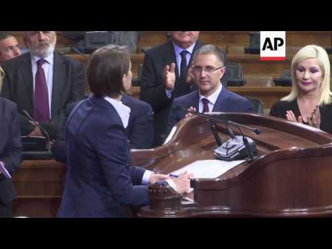 Serbia lawmakers elect first female and openly gay premier