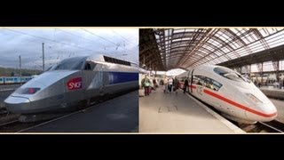 "THE GERMAN ""ICE"" vs FRENCH ""TGV"" [HD]"