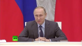 Путин поздравил Мутко с днем рождения и подарил ему русско-английский разговорник