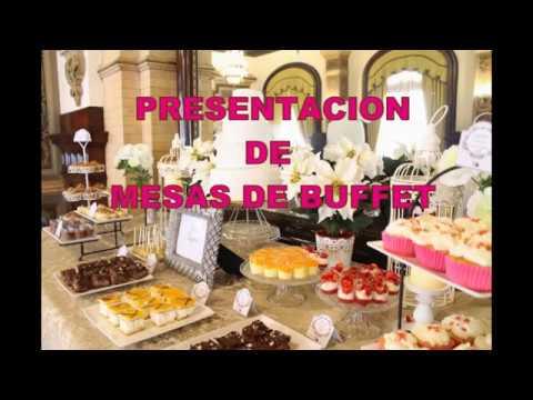 Presentacion de una mesa de buffet para eventos youtube - Mesas para buffet ...
