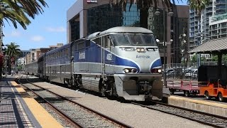 Trains in San Diego, California (Pacific Surfliner, Coaster, Trolley)