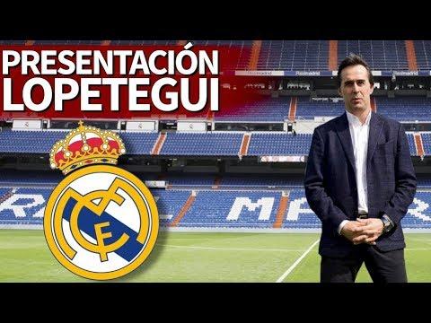 Presentación de Julen Lopetegui como nuevo entrenador del Real Madrid   Diario AS