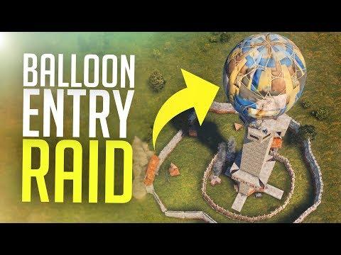 INFILTRATING a COMPOUND via a BALLOON - Rust Raids