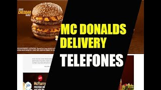 Número do telefone do McEntrega do McDonalds