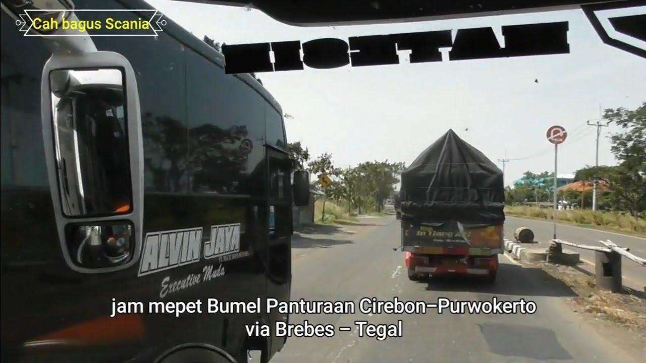 Po.Alvin Jaya,keseruan jam sore naik Bus pantura Cirebon-Tegal