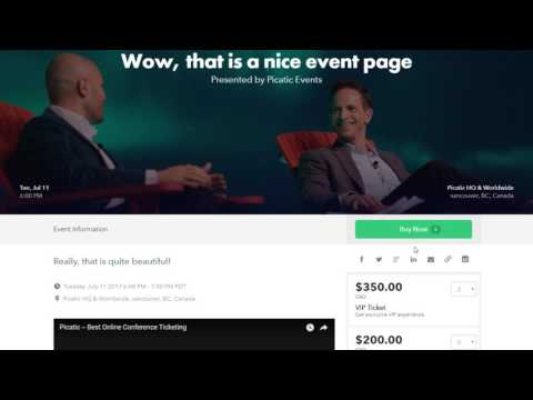 1 minute Picatic, the #1 rated solution for event ticketing