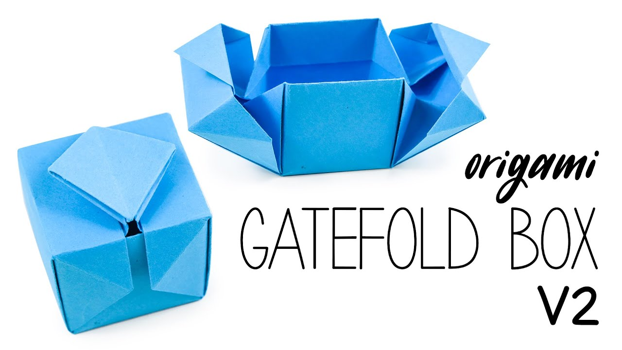 Origami Gatefold Box Tutorial V2 DIY