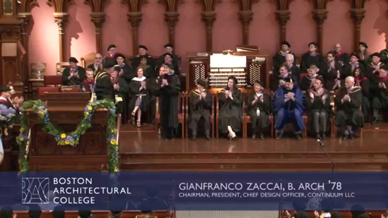 2015 Boston Architectural College Commencement Address: Gianfranco Zaccai,  B.Arch U002778   YouTube