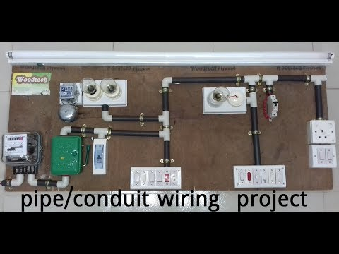 pipe /conduit house wiring  project .