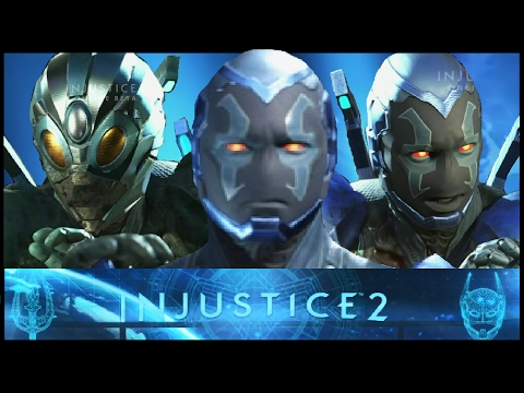 Injustice 2: All Blue Beetle Interactions and Clashes (Beta) (HD) (PS4)