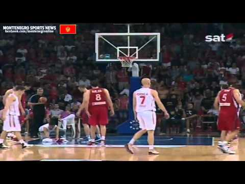 Montenegro vs Serbien  (EuroBasket Qualification) 2 september 2012 __ RTCG