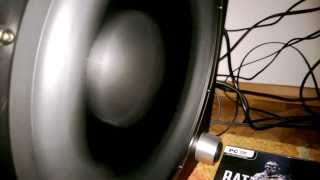 Teufel Concept E 450: subwoofer excursion test