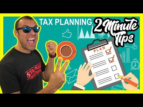 2 Minute Tax Tip The Importance of Tax Planning Saving Money As A Small Business Owner in Tax Reform