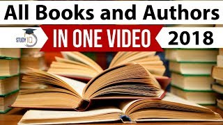 All Books and Authors of 2018 in one video - January to December - Important Current Affairs 2019