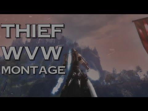 [Fave] Guild Wars 2 - Thief WvW Roaming - D/D D/P + Raging Player