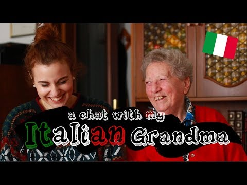 A Chat With My Italian Grandma (with Subtitles!) | Doyouknowellie