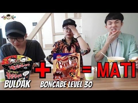 SAMYANG 2 Kali Pedas + BON CABE LV 30 = MATI (Tanpa Minum)