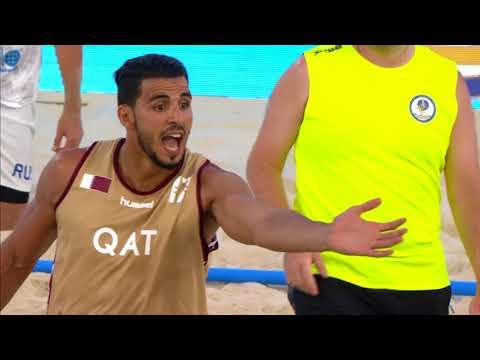 Лучшие моменты матча Катар - Россия пляжного Чемпионата мира в Казани