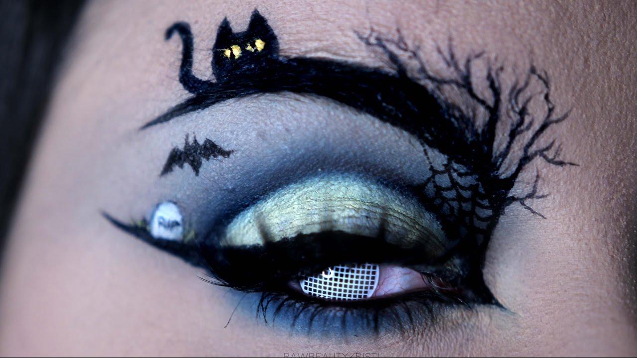 HAPPY HALLOWEEN | Halloween Eye Art Makeup Tutorial ...