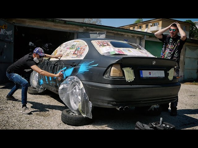 Painting his NEW BMW with GRAFFITI!