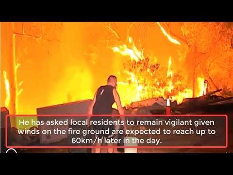 Southwestern Sydney residents warned to take shelter as bushfire upgraded to emergency