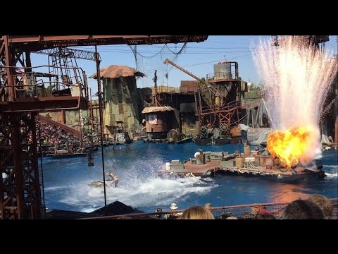 Waterworld Full Two-Part Jetski Sequence at Universal Studios Hollywood